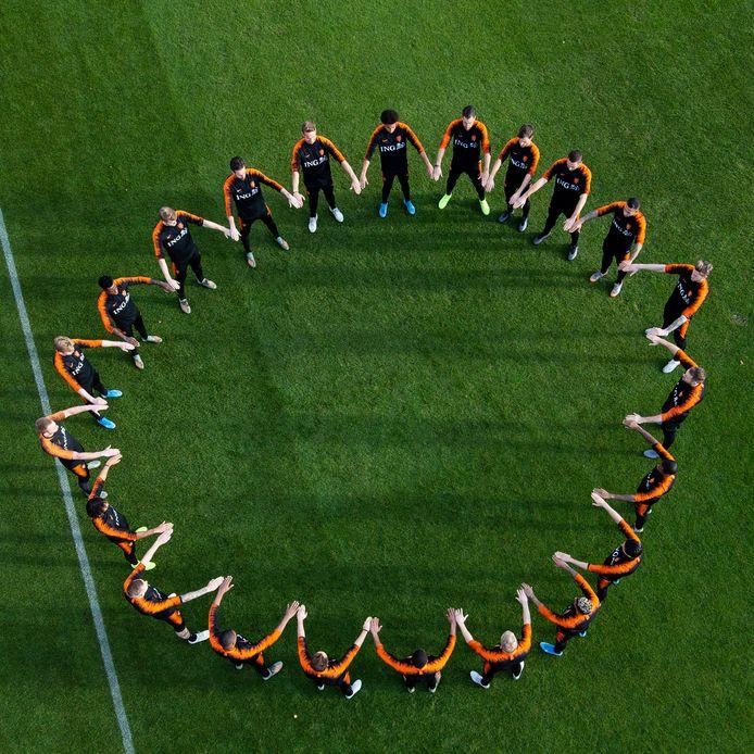 Het statement van het Nederlands elftal deze week tegen racisme.