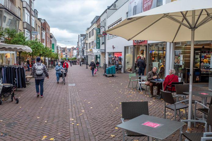 De Grosse Strasse in Het centrum van Kleef.