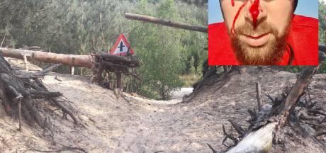 Marcel (33) rijdt vol in een roestige staalkabel: 'Dit had heel anders af kunnen lopen'