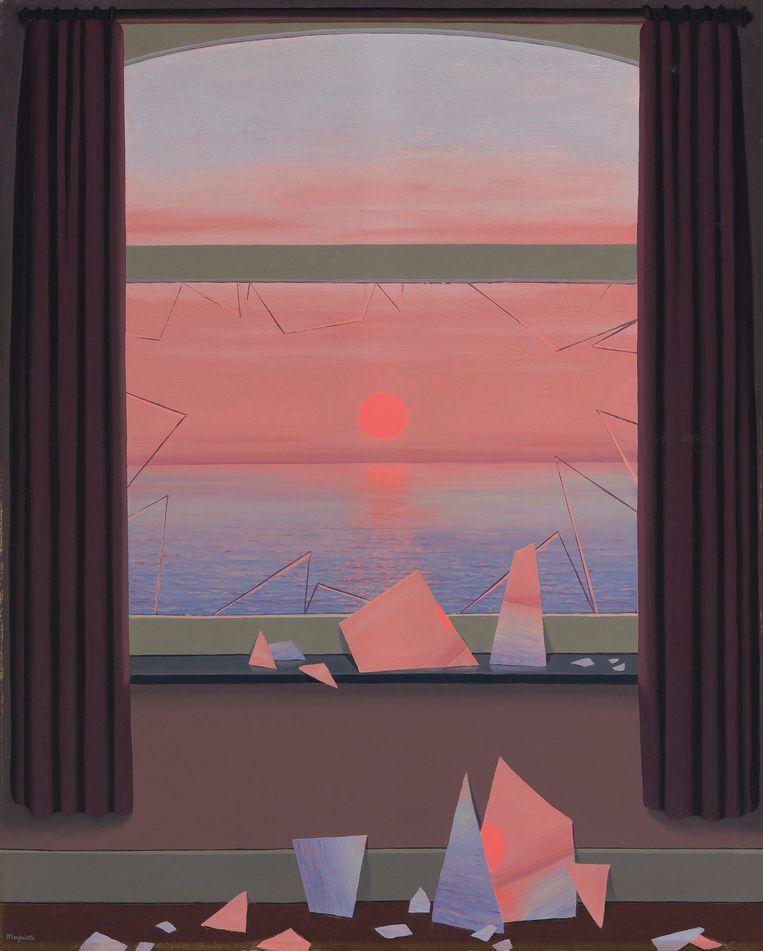 René Magritte, Le Monde des Images, 1950, olieverf op doek, 100 x 80,6 cm. Beeld privécollectie