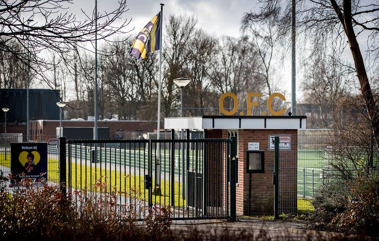 Het sportcomplex van amateurvoetbalclub OFC in Oostzaan. ANP KOEN VAN WEEL Beeld Koen van Weel/ANP