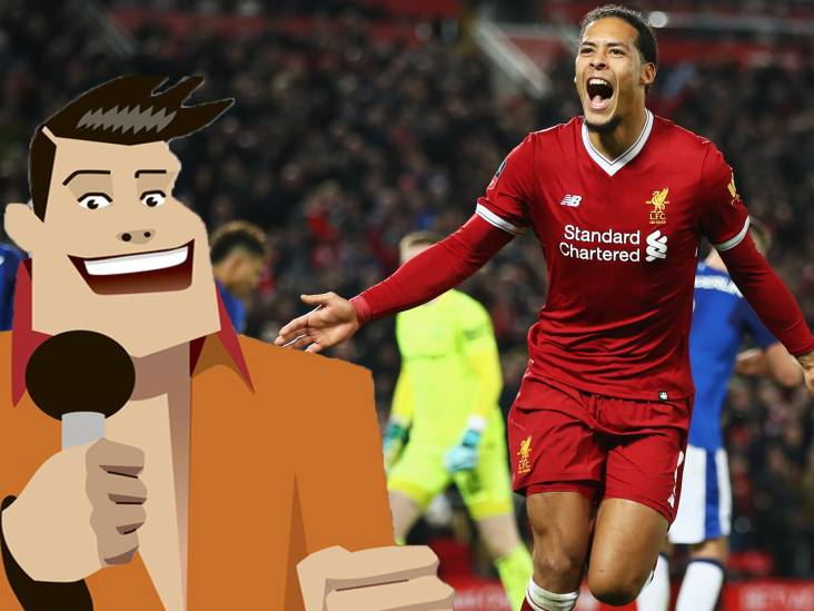 Quiz | Hoe vaak scoorde Van Dijk dit seizoen voor Liverpool?