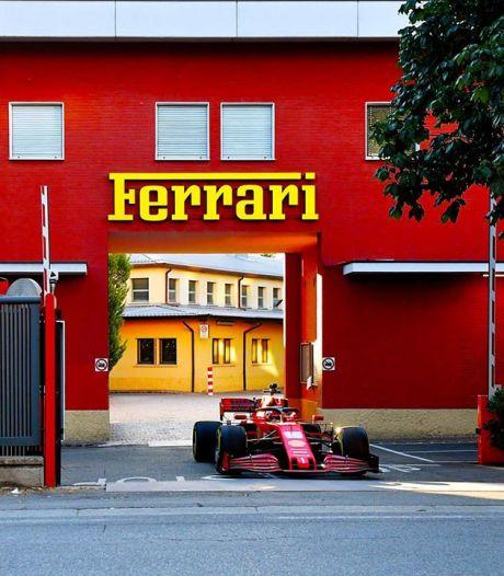 Charles Leclerc en Formule 1 dans les rues de Maranello