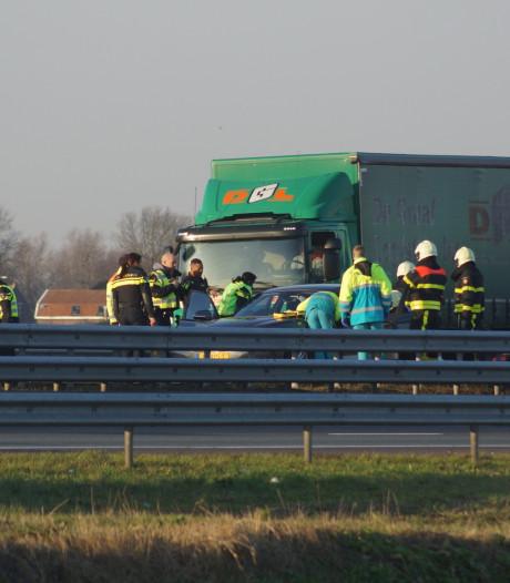 Gewonde bij ongeval op A59 bij Sprang-Capelle