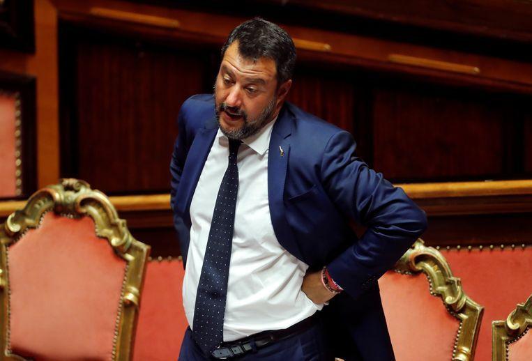 Salvini liet donderdagavond weten dat hij geen toekomst meer met beide partijen ziet. Beeld REUTERS