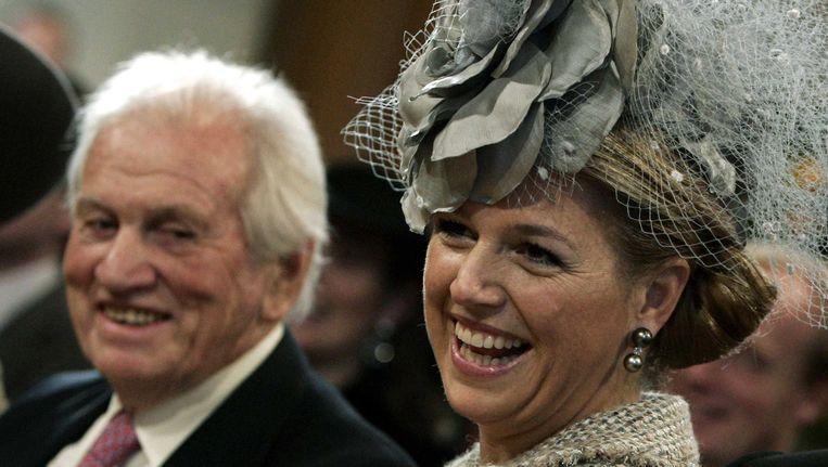 Koningin Máxima en haar vader Jorge Zorreguieta. Beeld Benelux Press