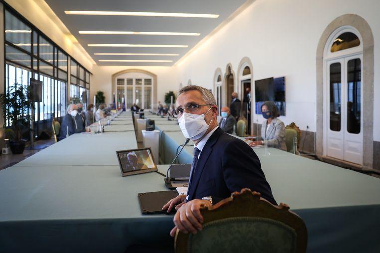 Jens Stoltenberg, secretaris-generaal van de NAVO. Beeld EPA