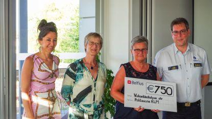 Politiezone KLM verdeelt 2.250 euro onder drie goede doelen
