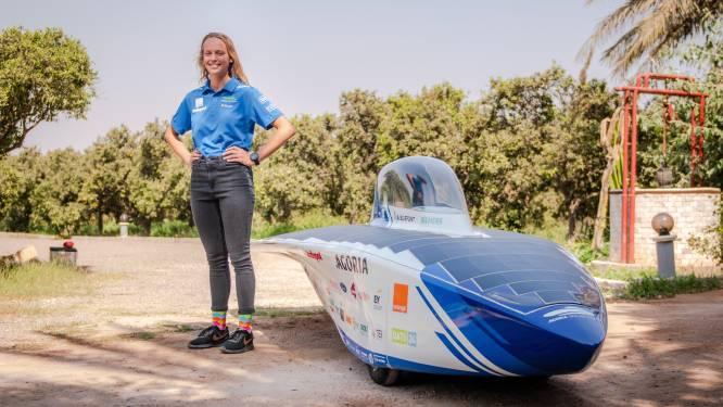"""Birgitt Peeters (24) rijdt met Leuvense zonnewagen door de Sahara: """"Het Marokkaanse verkeer wordt een bijkomende uitdaging"""""""