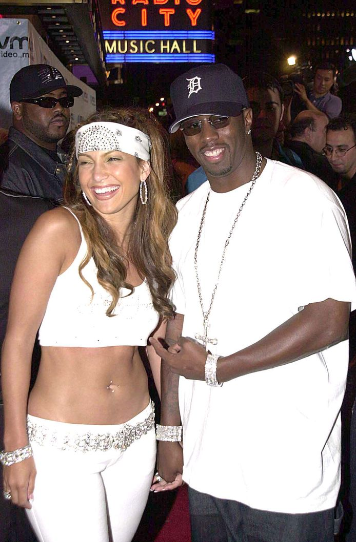 """Jennifer Lopez and Sean """"Puff Daddy"""" Combs en 2000."""