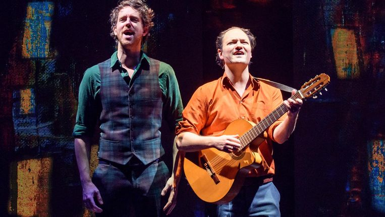 Niels van der Laan en Jeroen Woe. Beeld Senf Theaterpartners.