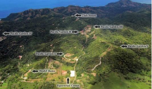 Overzicht van de locaties van het project Pacific Gardens.