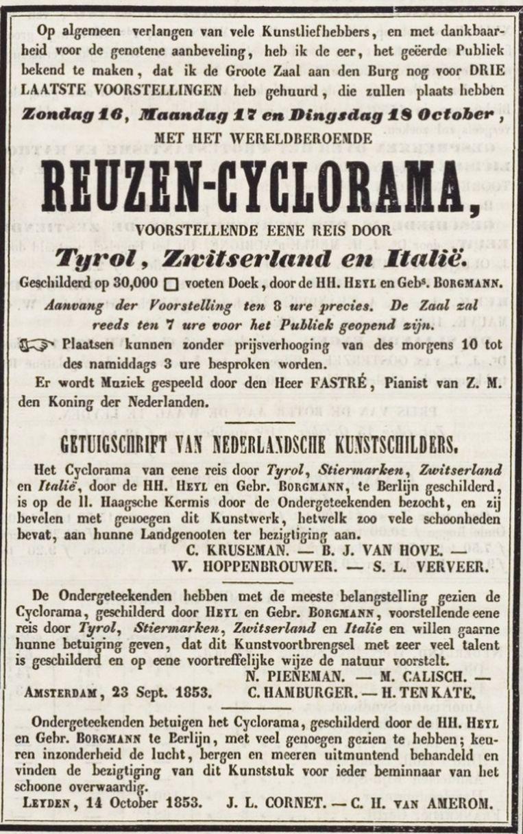 Krantenknipsel uit 1853. Beeld