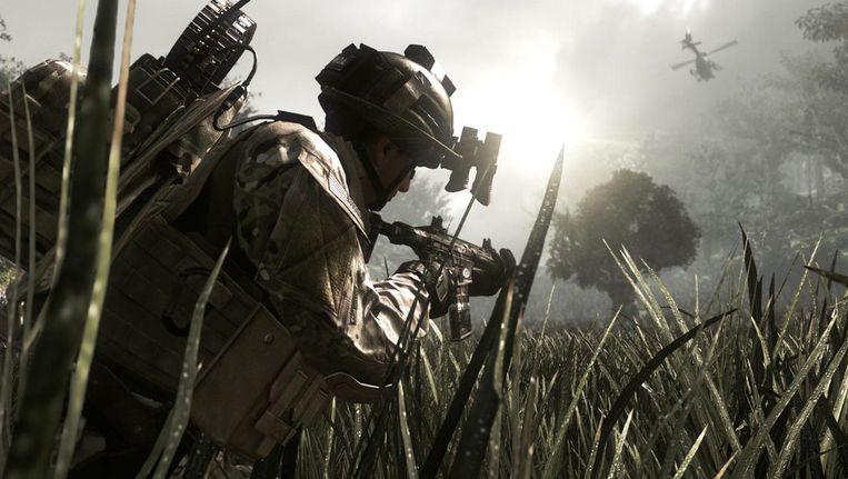 Een scene uit de video-game 'Call of Duty: Ghosts'. Beeld ap