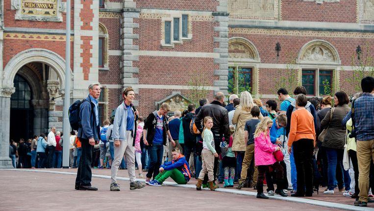 'Soft Targets' bij het Rijksmuseum, tot voor kort toeristen. Beeld anp
