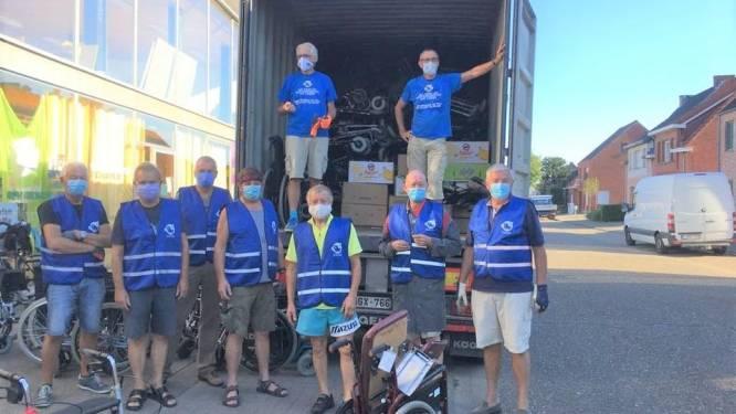 Gepensioneerde kameraden van De Hoptimisten verzamelen 70 rolstoelen en 120 rollators voor Sierra Leone