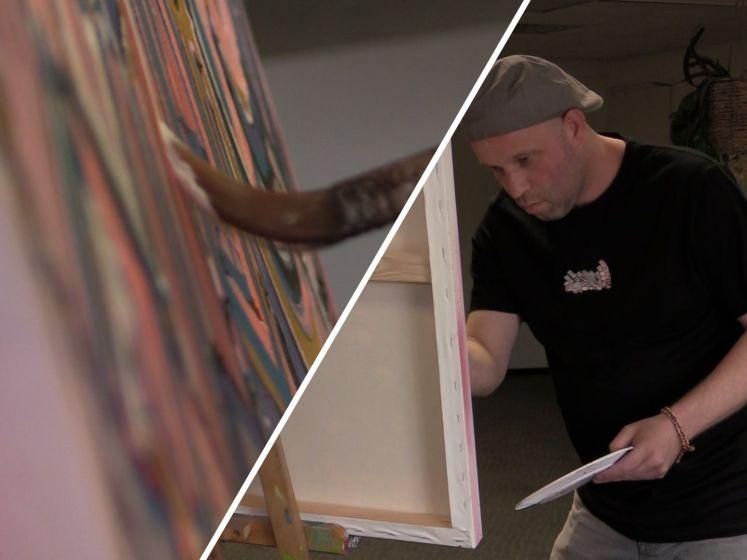 Ex-dakloze Ron schildert zijn depressies weg en prijkt nu op t-shirts: 'Ik word 's morgens wakker en ik lach'
