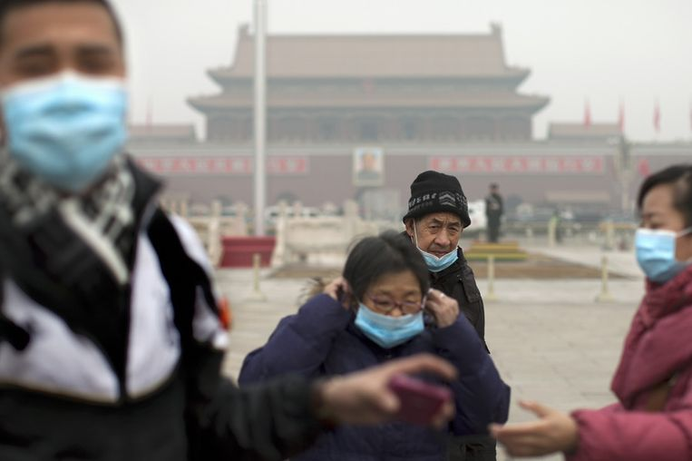 Smog in Beijing Beeld AP