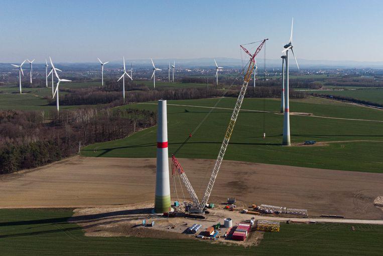 In Duitsland worden er al nieuwe windturbines gebouwd. Beeld Photothek via Getty Images