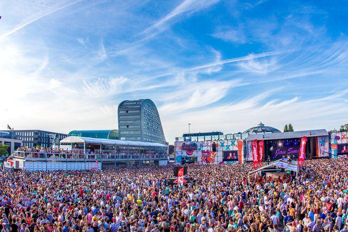 Het muziekfestival Breda Live op het Chasséveld in Breda is de laatste jaren stijf uitverkocht. foto Yashar Nebbeling