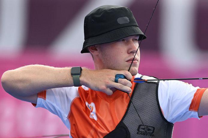 Handboogschutter Gijs Broeksma liep maandag met zijn team net het brons mis.
