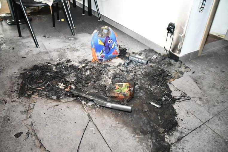 De korte maar hevige brand veroorzaakte toch flinke schade