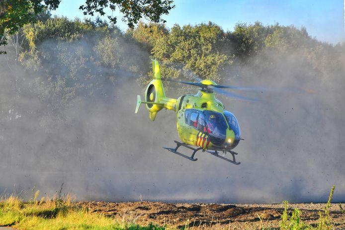 Er landde ook een traumahelikopter.