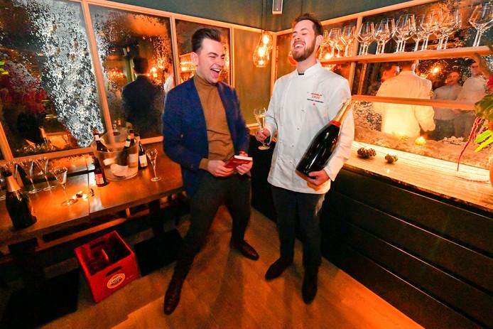 Robin Groos (26, links) en Herman Cooijmans (30) van restaurant Eden in Valkenswaard.