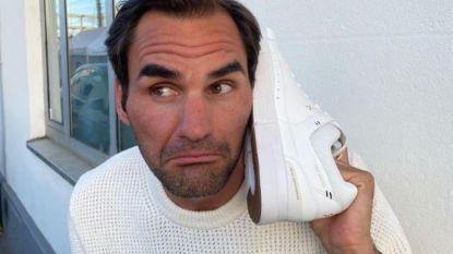 """Federer, die exclusieve schoen lanceert: """"Was ik al met pensioen geweest als Nadal en Djokovic niet meer zouden spelen? Misschien"""""""