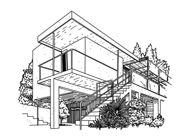 Villa E-1027.  Beeld Michel Keppel