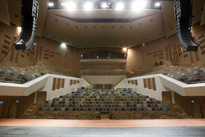 De grote zaal van het Muziekgebouw Eindhoven.