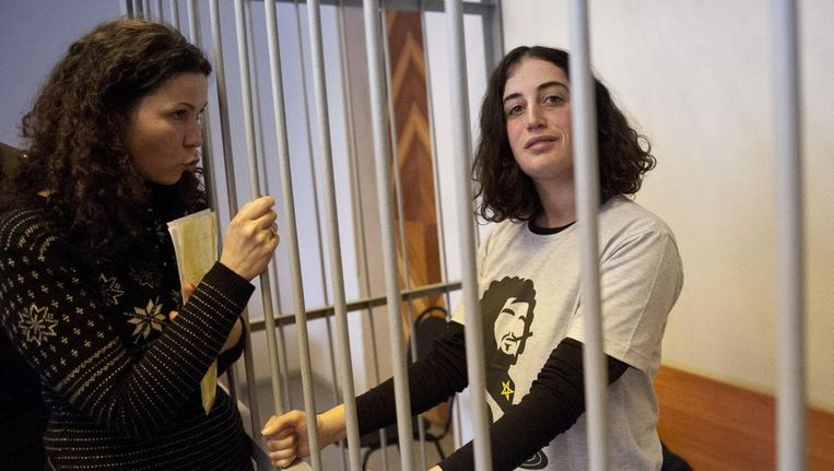 De Turkse Greenpeace-activiste Gizem Akhan in Rusland. Beeld reuters