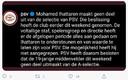 Tweet PSV over Mo Ihattaren.
