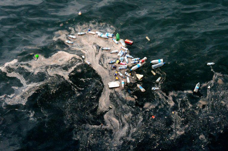Plasticafval in de Middellandse Zee. Beeld EPA