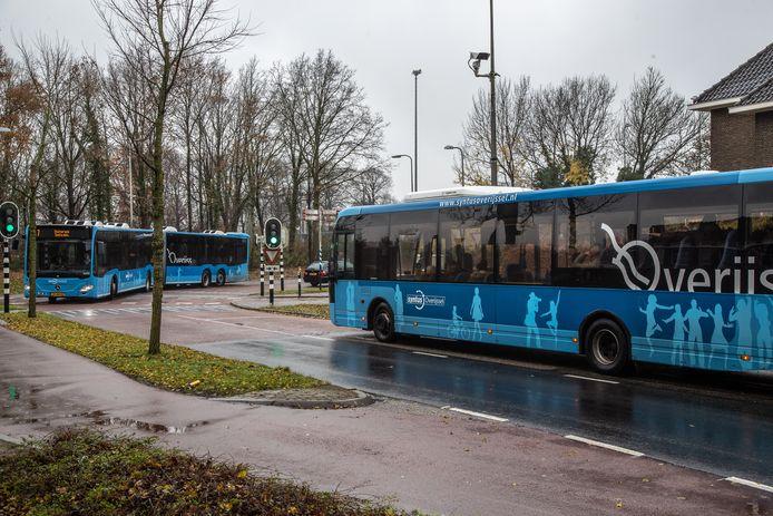 Er zijn camera's geplaatst om de verkeersstromen te monitoren in de Hortensiastraat in Zwolle.