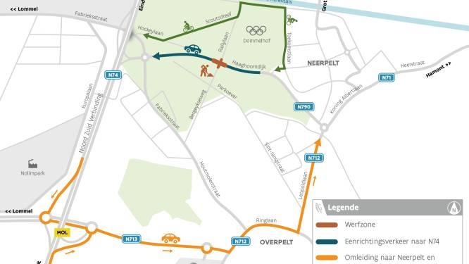 Eenrichtingsverkeer op Haagdoorndijk door werken aan beveiligd fietsoversteekpunt
