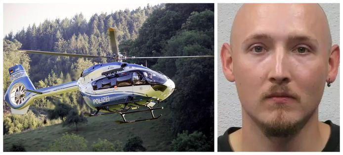 Bij de zoektocht worden meerdere helikopters ingezet. De man is geïdentificeerd als Yves Rausch.
