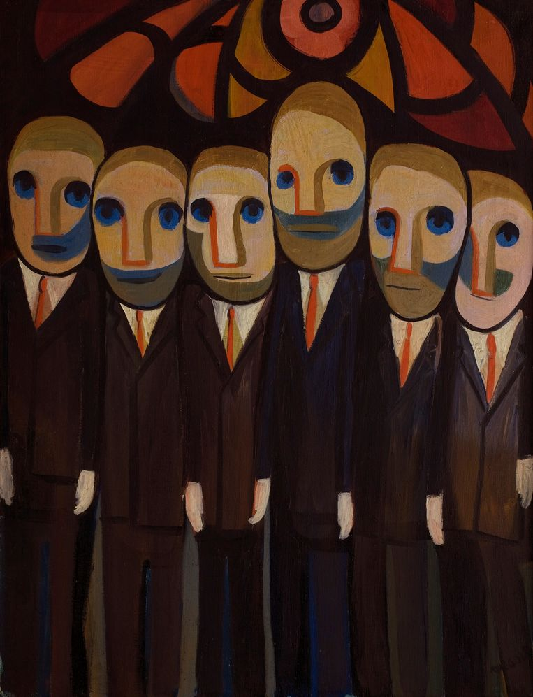 Faith Ringgold, They Speak No Evil (1962) Beeld  Pictoright Amsterdam