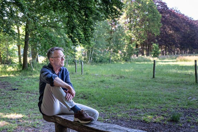 Roelof Benthem in Park Schothorst. De diagnose epilepsie dwong hem een stapje terug te doen en dat bevalt hem goed.