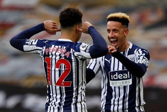 West Bromwich Albion-speler Matheus Pereira (links) was met twee treffers de gevierde man bij zijn ploeg op bezoek bij Wolverhampton Wanderers.