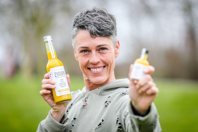 Katrien Vergote uit Blankenberge lanceert een nieuw gemberdrankje, Zingy genaamd.