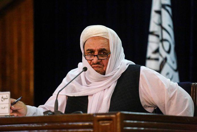 De talibanminister van Hoger Onderwijs Shaikh Abdul Baqi Haqqani. (lees verder onder de afbeelding)