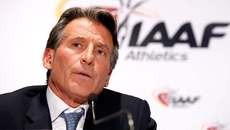 IAAF voorzitter Sebastian Coe Beeld EPA