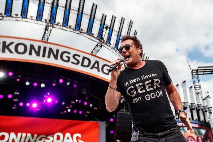 Gerard Joling in 2018 op 538 Koningsdag.