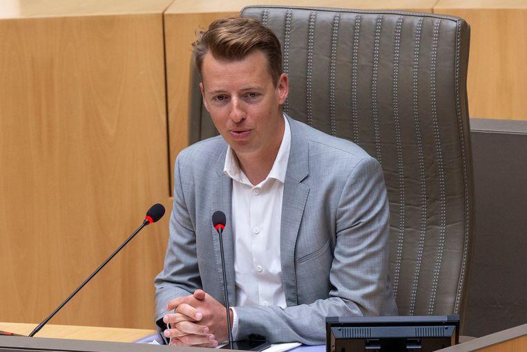 Hannes Anaf (Vooruit) werd officieel aangeduid als voorzitter van de onderzoekscommissie PFOS-PFAS. Beeld BELGA