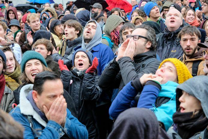 De cultuursector voerde vorige maand al acties aan het Vlaams Parlement.