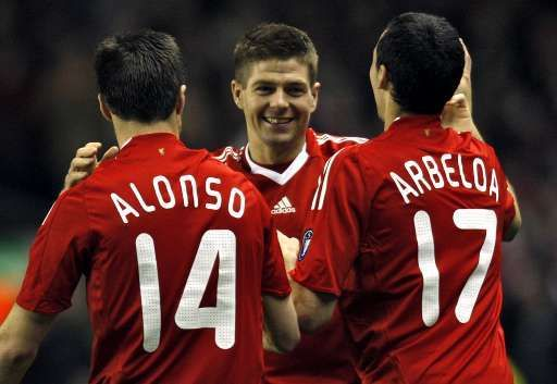 Auteur de d'un doublé, Gerrard a mené les Reds vers la victoire.