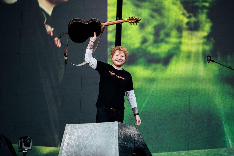 Ed Sheeran in Werchter Beeld Damon De Backer