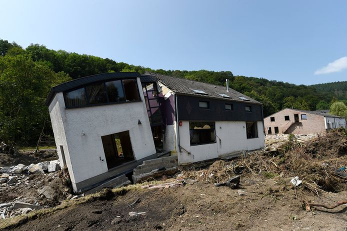 Een verwoeste woning in Pepinster