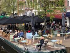 Leidse horeca over eerste terrasweek: 'Mensen komen nog net niet in regenpak'
